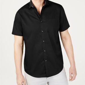 INC Short-Sleeve Pocket Button down Shirt Medium